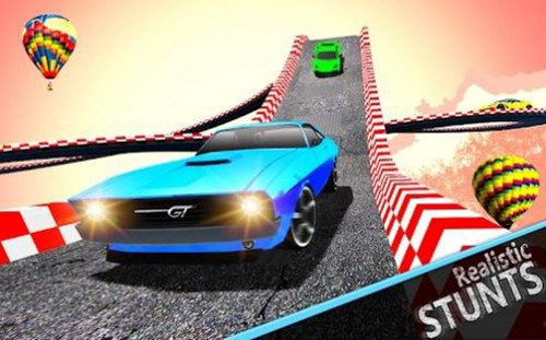超级赛道汽车跳跃3D破解版