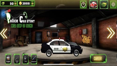 警车特技超级斜坡游戏ios版下载