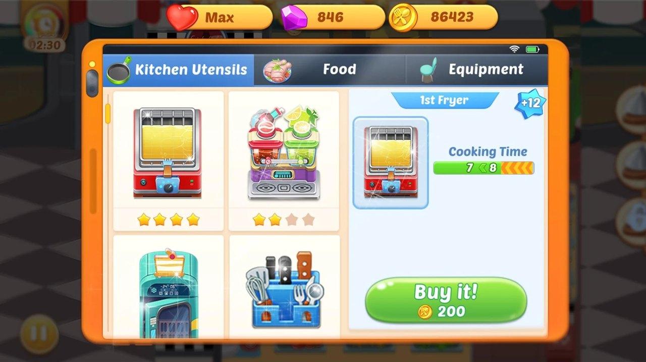 烹饪生活疯狂厨师游戏下载
