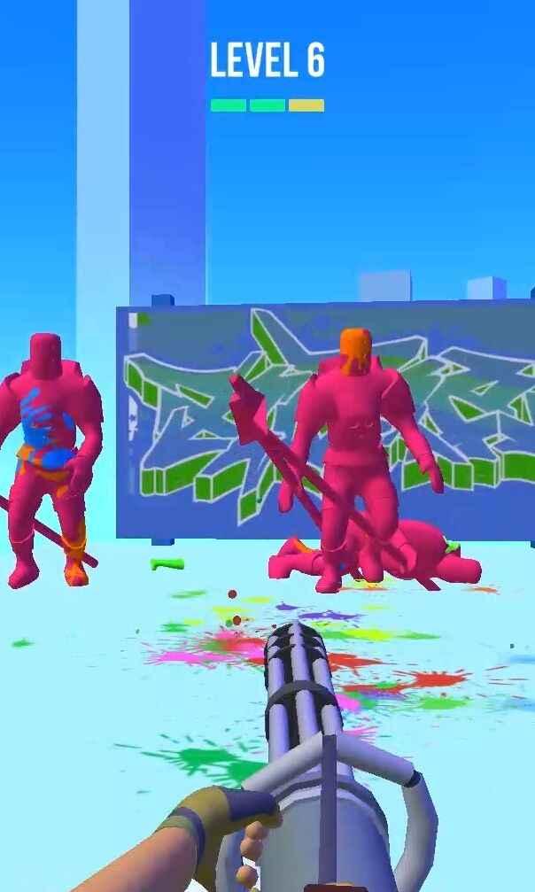 彩弹射击3D游戏